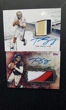 2 CARD LOT 2014 SPA Topps Inception RC Jumbo Patch Auto Texans Tom Savage /50