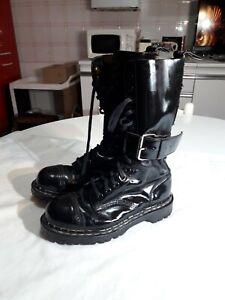 Anfibi Gripfast 14 5 punk boots goth fetish stiefel steel martens buckle 38