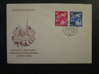 Germany DDR SC# 118 / 119 on 1952 FDC / Unaddressed / Cacheted - Z4515
