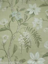 Zoffany Curtain Fabric Hazlewood 3.5m Papyrus - 100 Linen Floral Design 350cm