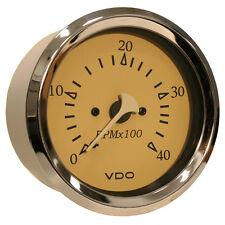 "VDO Allentare Teak 4000RPM 3-3/8"" (85mm) Diesel Tachometer (Alternator) - 12V"