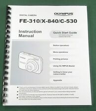Olympus FE-310 Instruction Manual: 68 Pages and Protective Covers!