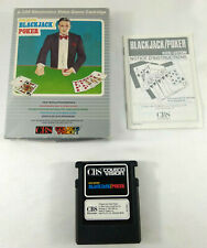 Jeu CBS Colecovision en boite VF Black Jack Poker Ken Uston notice 1982 JEU HS