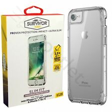 Griffin Survivor Tough Clear Case Cover for iPhone 8/7/6S/6 - clear