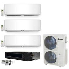 Klimaire 4-Zone 48K Btu 20 Seer 12+12+12K Wall 18K Ducted Ac MiniSplit Heat Kits
