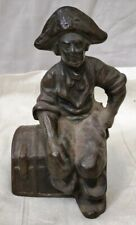 Antique Brass Casting Pirate of Caribbean Figure Decorative Collectible