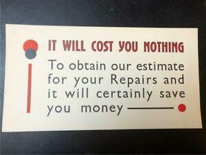 ORIGINAL 1920s UNUSUAL TYPOGRAPHIC SMALL SHOP POSTER - IT WILL COST YOU NOTHING