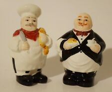 Vintage Chef Salt and Pepper Shakers Hand Painted