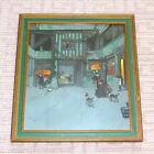 "Vintage An Old English Inn by Cecil Aldin 18"" X 17"" Print w Wood Frame & Glass"