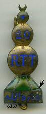 Insigne tirailleurs tunisie ns , 20  RTT.  ( doré )