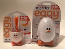 JOIE MSC Chick MICROWAVE Soft Hard Boiled EGG BOILER New & Cup & Spoon Breakfast