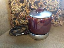Vintage West Bend Bean Pot With Manual 1955