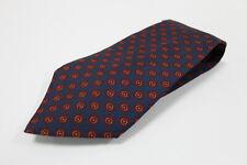 cravatta tie krawatte PRADA MILANO blu dots pois 100% seta silk soie (858)