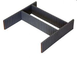 Koffer Einlagen Trennstege Trennwand Aufteilung Unterteilung SET 34x8x1cm, 60912