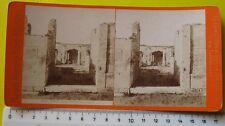Pompei Casa della Fontana Grande stereophoto Maison G. Brogi di Florence - '800
