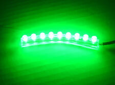 GREEN 9 LED STRIP MOTORCYCLE/CAR/BOAT/HOME/ATV POD BRIGHT ACCENT LIGHT 12V Bar