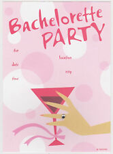 BACHELORETTE PARTY INVITATIONS 10 Note Card Hen Do Wedding Invites Cards NEW
