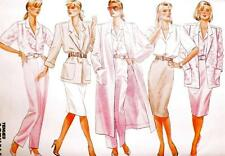 Misses Coat Jacket Skirt Pants Shirt Sewing Pattern Multi Size 20 22 24 Butteric
