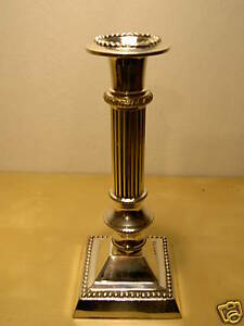 Supporto Candela Argento Candeliere Candelabro 21 CM Portacandele Stile Antico