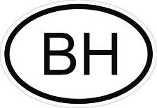 Bh Bahréin código de país Oval pegatina de parachoques calcomanía auto