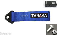 TANAKA HIGH STRENGTH UNIVERSAL BLUE RACING SPORTS TOW STRAP TOW HOOK