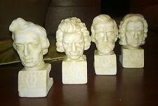 """Arte/Sculture In Marmo """" A.SANTINI """" Verdi-Chopin-Beethoven-Bach/Musicisti/Pz.4"""