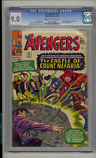 Avengers #13 CGC 9.0 VF/NM Unrestored Marvel 1st Count Nefaria Fantastic Four