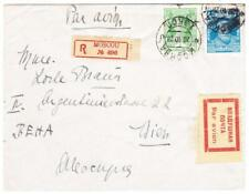 Russia SOVIET-Sc#389,#397-MOSCOW 20/10/28-REGISTERED(label)-AIR MAIL TO