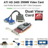 ATI Radeon MT HIGH Profile Dual Monitor Video Card 256MB DDR2 PCI-E x16 VGA HD