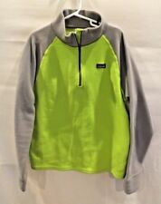 Patagonia Youth Kids 1/4 Zip Pullover Fleece Pullover Green Gray Sz Large (12)