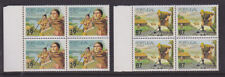 Azores Portugal 1989 Mint MNH Full Set Blocks of 4 Farming Agriculture Planting