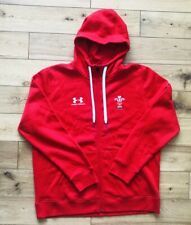 7dbcd0ca99a Men's Under Armour Wales WRU 2019/20 Rugby Hoodie Jumper 1343870 New Size L