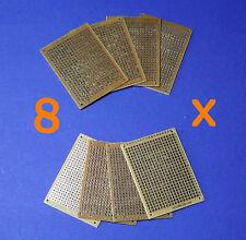 8 X Experimentier Platine Prototype Board 7x5cm Leiterplatte Dotmatrix 2,54mm