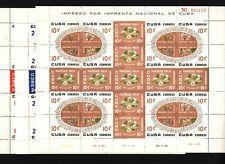 Opc 1960 Quba Christmas Flowers Full Sheets Sc#648-662 Mnh 42511
