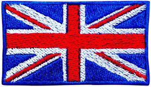 UK Flag Embroidered  Iron On Patch Sew On Jeans Applique Jacket Fancy Hat Badge