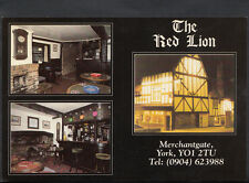 Yorkshire Advertisment Postcard - The Red Lion Pub, Merchantgate, York  B2719