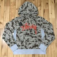 A BATHING APE BAPE x STUSSY Collabo Pull Over Camo Hoodie Size M Made in Japan