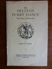 THE HELSTON FURRY DANCE BY E CUNNACK WITH MAP AND ILLUSTRATIONS 1953 + POSTER