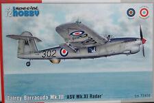 Special Hobby 1/72 SH72408 Fairey Barracuda Mk III 'ASV Mk XI Radar'  Model kit