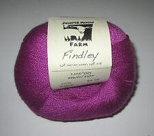 2 balls of RICH PURPLE JUNIPER MOON FINDLEY wool silk lace knitting yarn #37