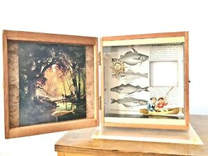 Original Assemblage Collage GONE FISHING, Black Artist, Personalize w Photograph