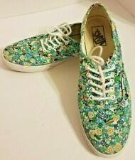 Vans Off the Wall Blue Floral Skater Low-Top Tennis Shoes Sneakers W 10, M 8.5