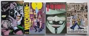 Alan Moore Graphic Novel Job Lot Bundle x4 Watchmen Vendetta Killing Joke League