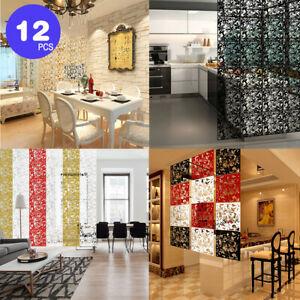 12 Panels Room Divider Screen Folding PVC Hanging Screens Room Partition Decor