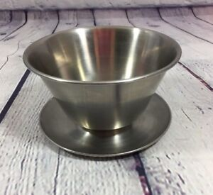 Leonard Gravy Bowl 18/8 Stainless Steel with Attached Underplate