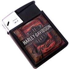 HARLEY DAVIDSON MOTORCYCLES Metal Tin Cigarette Black Plastic Gas Lighter