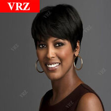 VRZ Short Human Hair Wigs Straight Classic Cap Pixie Cut Braizlian Hair Wigs