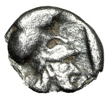 "Asia Minor, Uncertain AR Tetartemorion ""Female Head & Helmeted Athena"" Rare"