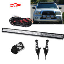 "50"" Straight LED Light Bar KITw/ Mount Brackets For 2007-2014 Toyota Tacoma"