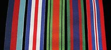 """WW2 Canadian Medal Set, FS (32mm) Replacement Ribbon, 6"""" of each for Swing Mount"""